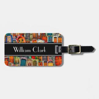 Portas customizáveis do Tag da bagagem do mundo Etiqueta De Bagagem
