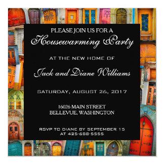 Portas originais do convite de festas do