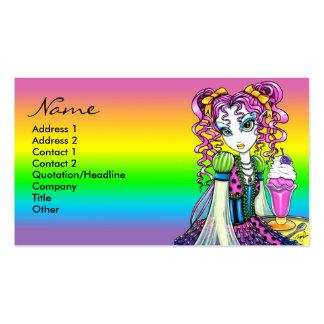 Porte postal da fada do arco-íris do sorvete do so cartões de visitas