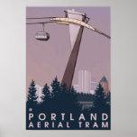 Portland, cena do bonde de OregonAerial Poster