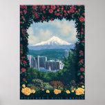 Portland, cena do jardim de OregonRose Poster