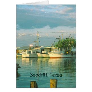 Porto da manhã, Seadrift, cartão de nota de Texas
