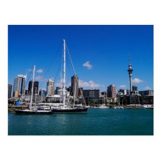 Porto de Auckland, Nova Zelândia - cartão