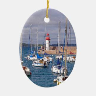 Porto de Erquy em France Ornamento De Cerâmica