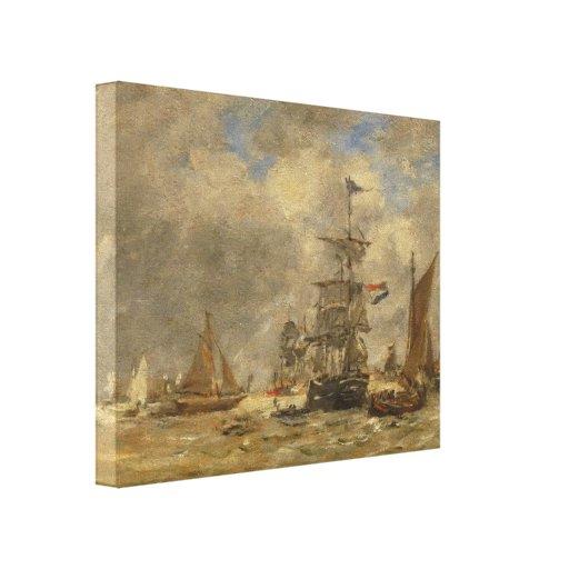 Porto de Eugene Boudin- Impressão De Canvas Envolvidas