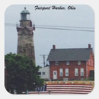Porto de Fairport, Ohio 4o da etiqueta da foto de