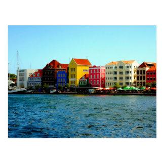 Porto do cartão de Willemstad Curaçau