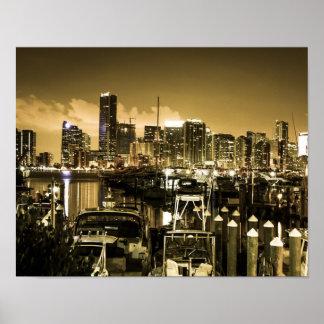 Porto dourado de Miami Pôster