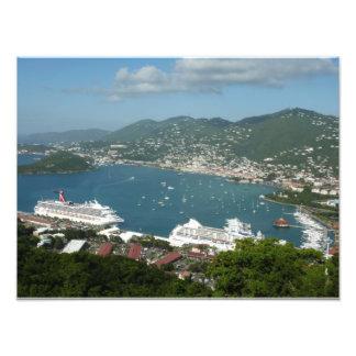 Porto em St Thomas E.U. Virgin Islands Impressão De Foto