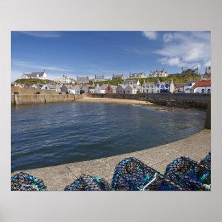 Porto, Findochty, Moray, Scotland, unido Poster