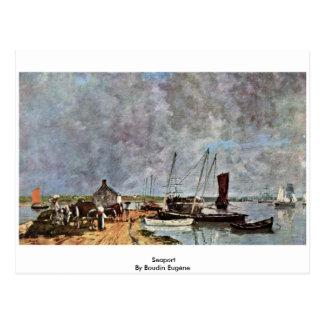 Porto por Boudin Eugène Cartão Postal