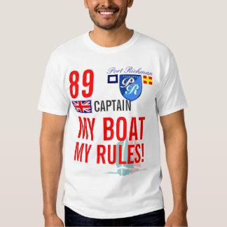Porto Richman meu barco minhas regras Grâ Bretanha Camisetas
