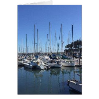 Porto Santa Cruz Califórnia Cartão Comemorativo