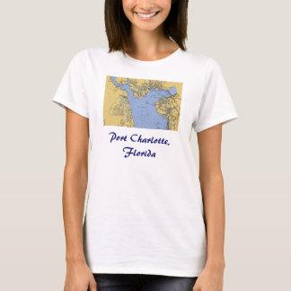 Porto t-shirt náutico da carta de Charlotte, Camiseta