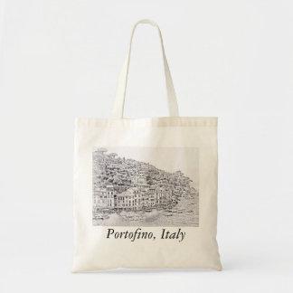 Portofino romântico sonhador, sacola de Italia Bolsa Tote