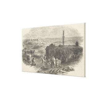 Portos estrangeiros do milho, Alexandria Impressão De Canvas Envolvida