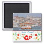 Portugal nas fotos - a cidade de Lisboa Ímã Quadrado