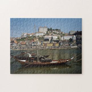 Portugal, Porto, barco com tambores de vinho Quebra-cabeças