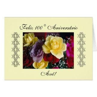 Português: 100 anos/Parabéns Avo! Cartões