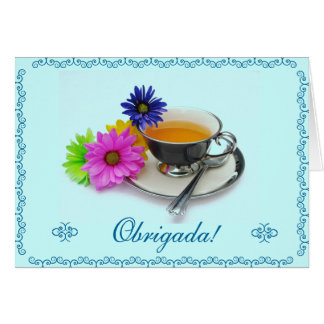 Português: Agradecimento/obrigado você Cartão De Nota