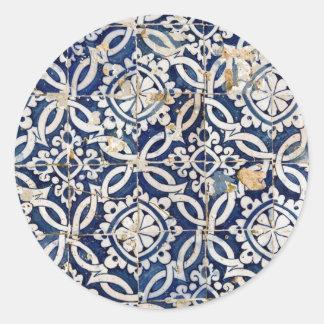 Português Azulejo do vintage Adesivo