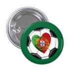 Português: bandeira & coração boton