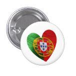 Português: bandeira & coração bóton redondo 2.54cm