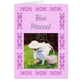 Português Boa Páscoa Cartões