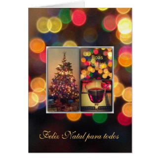 Português: Boas Festas - luzes de Natal Cartão Comemorativo