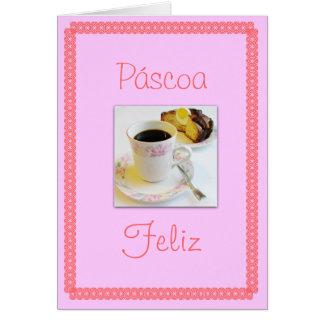 Português: Bolo de Folar de Páscoa/Páscoa Cartão Comemorativo