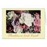 Português: Casamento/rosas do casamento Cartão Comemorativo