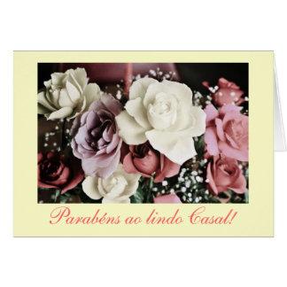 Português: Casamento/rosas do casamento Cartão