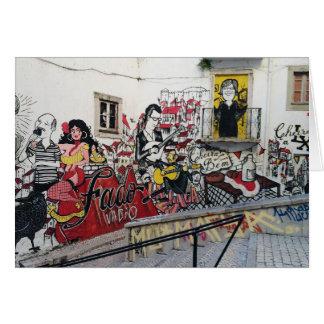 Português: Dia dos pais do Fado/de Alfama- Lisboa Cartão Comemorativo
