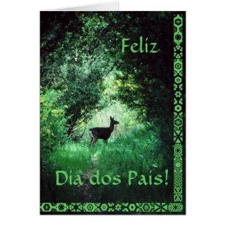 Português Dos Pais do diâmetro Cartão