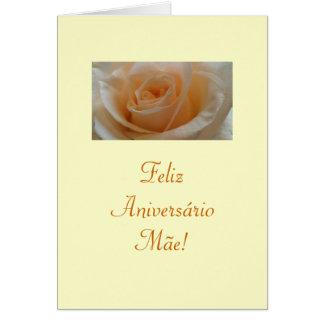 Português: Feliz Aniversario Mae! Cartão Comemorativo