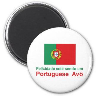 Português feliz Avo (avô) Ímã Redondo 5.08cm