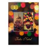 Português: Feliz natal - luzes de Natal Cartão Comemorativo