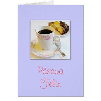 Português: Felz pascoa de Páscoa Feliz/ Cartão Comemorativo