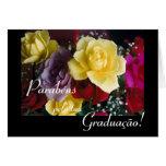 Português: Flores da graduação de Graduação/ Cartão Comemorativo