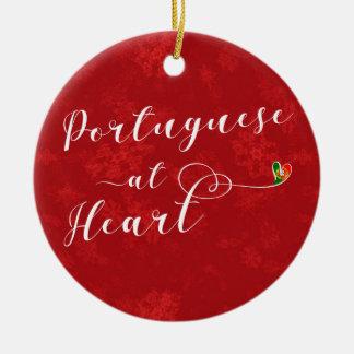 Português no coração, ornamento da árvore de Natal