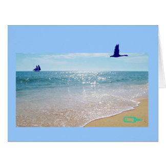 Português: O diâmetro faz o oceano/dia dos pais de Cartão Comemorativo Grande