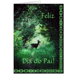 Português: O diâmetro faz Pai Cartão Comemorativo