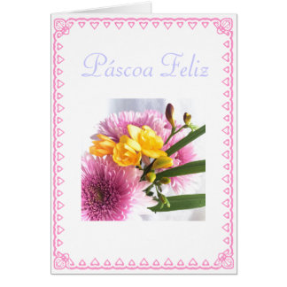 Português: Páscoa Feliz Cartão Comemorativo
