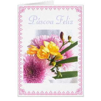 Português: Pascoa Feliz Cartão Comemorativo