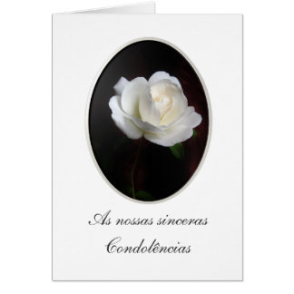 Português: Pesames/Condolencias Cartão Comemorativo