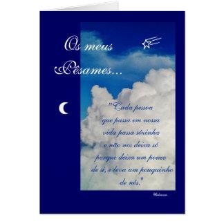 Português: Poema: Condolencias Cartão De Nota
