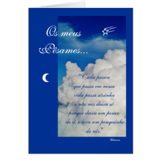 Português Poema de Condolencias Cartao