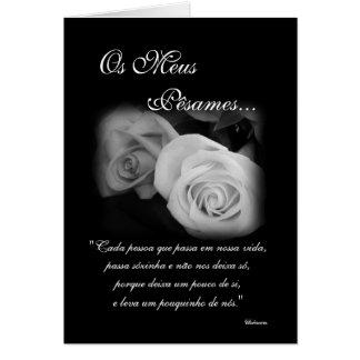 Português: Poema de Condolencias Cartão Comemorativo