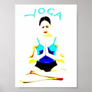 Pose da ioga em um poster pôster