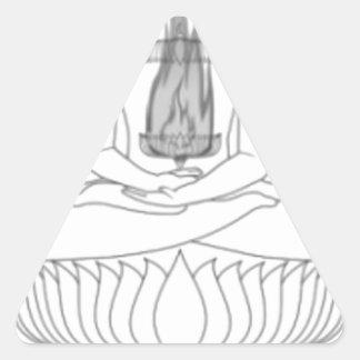 Pose da meditação de Jnanarnava com fogo Adesivo Triangular